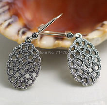2015 New 925 Sterling Silver European Jewelry Charm Style Shimmering Lace Earring  Earring with Clear Cz