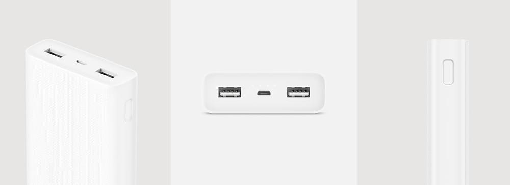 Original Mi Xiaomi Power Bank 20000mAh 2&2C Two-way Quick Charger QC3.0 5V/9V/12V Dual USB External Battery  for Phone Tablets