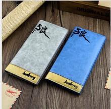 Fashion Men Wallet Leather Genuine Brand New Mens Long Wallet Male Clutch Designer Mobile Pouch China Style Baelerry Purse(China)