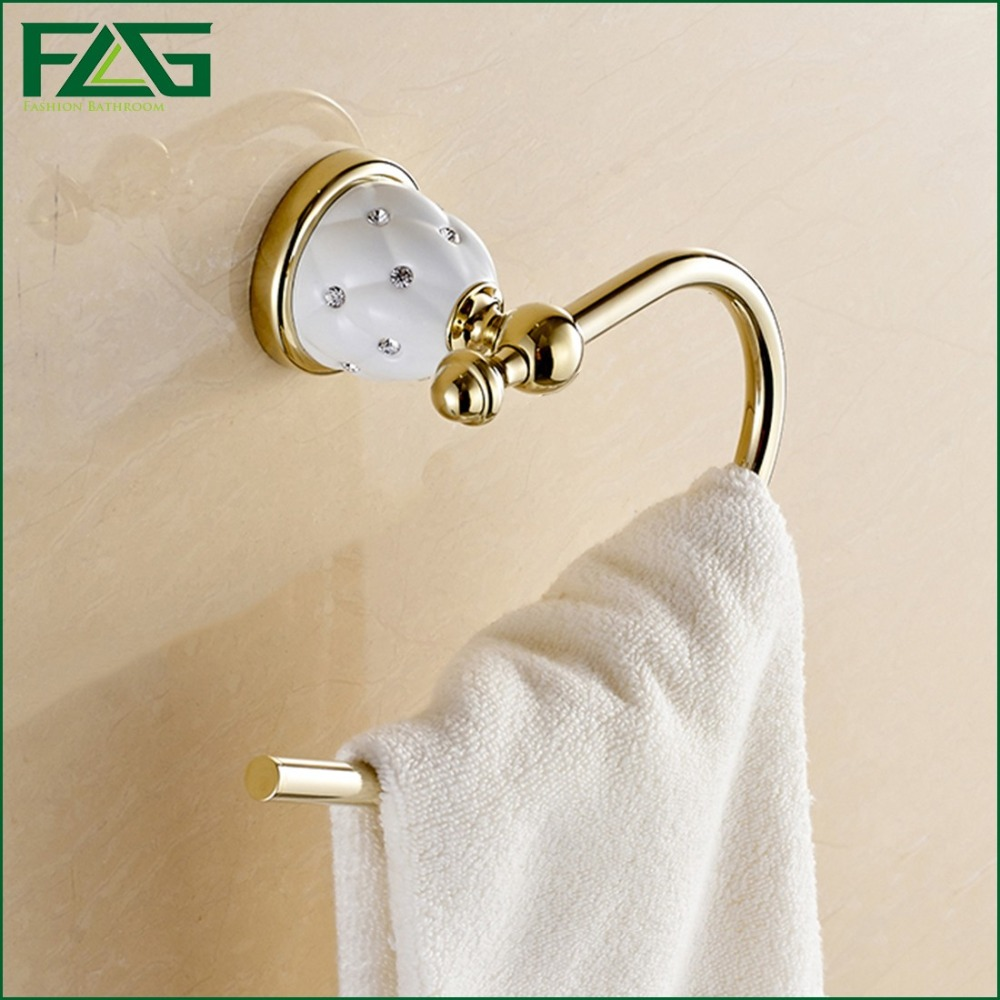 Gold white &amp; White Porcelain Towel Ring/Towel Holder,Stainless Steel Construction,Bath Hardware,Ceramic Base<br><br>Aliexpress