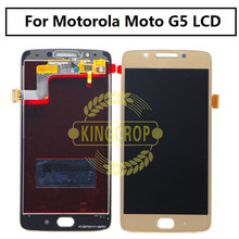 Origianl Tested 5 inch LCD For Motorola Moto G5 Display with Touch Screen Digitizer Assembly Replacement Parts XT1685 XT1672(China)