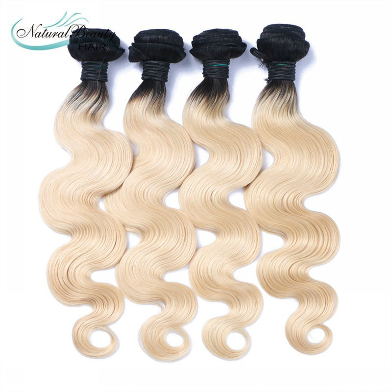 7A Unprocessed Malaysian Ombre Blond Virgin Hair 4pcs Dark Root Blonde Hair 4pcs Ombre 1b/613 Body Wave Hair Free Shipping<br><br>Aliexpress