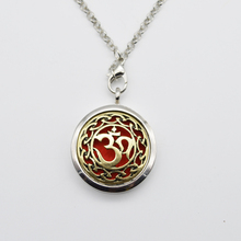 10pcs Aum Om Aromatherapy Necklace Diffuser Pendant Floating Charm For Memory Lockets Jewelry Women Gift Find Your Peace BXG-05(China)