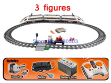 Lepin 02010 City Trains High-speed Passenger Train Building Blocks Motors Power Function Bricks Gift Compatible With Lego 60051