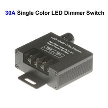 5pcs New DC12V-24 30A Single Color LED Dimmer Switch Controller For SMD 3528 5050 5730 Single Color LED Rigid Strip