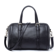 Vintage Genuine Leather - 2016 women fashion Boston bag handbag shoulder bags top handle bag cross body leather totes gift(China)