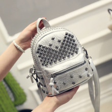 New Children Luxury Mini PU Leather Rivet Backpack Kids Boys Girls Fashion Casual Rucksack High Quality Leisure Shoudler Bags