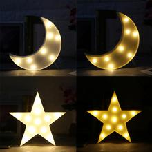 1Pc Cute Moon/Star Shape Led Night Light Lamp Home Bedroom Night Light Baby Kids Room Decoration Lamp Hot