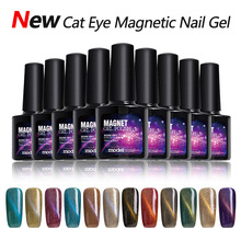 Modelones Long Lasting UV Nail Gel Polish Blue Magnetic Color Gel Nail Polish Base Coat Top Coat Gel Polish Magnet Cat Eyes Gel(China)