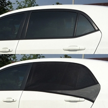 2Pcs Car Window Cover Sunshade Curtain UV Protection Shield Visor Mesh Dust Protection Car-covers AUG21(China)