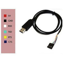 Tracking number 6pin FTDI FT232RL USB to TTL Serial cable Converter Adapter 6p for UNO R3 RX and TX LEDs indicator