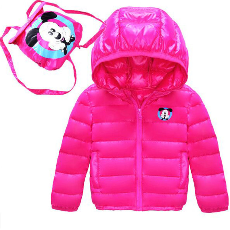 2017 New Winter Children Down Jacket Coat Slim  Boys And Girls  Fashion Hooded Cartoon School Bag Down Coat For 1-7 yearОдежда и ак�е��уары<br><br><br>Aliexpress
