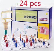 Chinese Vacuum Cupping 24pcs Cans Kit Traditional Acupuncture Suction Cup Biomagnetic Health Care Massage Relax Massagers