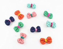 30pcs/lot dogs cats fashion dot bowkont headwear doggy lovely hairpin puppy grooming pet dog cat Hair Clip pets supplies apparel(China)