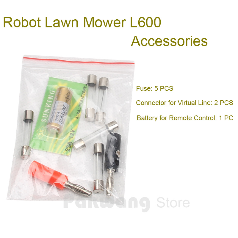 Original Robot Lawn Mower L600 Accessories, Fuse 5 pcs, Connector for Virtual Line 1 set, Battery for Remote Control 1 pc <br><br>Aliexpress