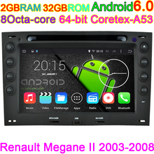 HD1024*600 Capacitive screen Car Computer for Renault Megane Android 6.0.1DVD player With CANBUS GPS MAP BT TV 4G WIFI Radio BT