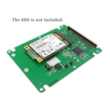 CY White Color mSATA mini PCI-E SATA SSD to 2.5 inch IDE 44pin Notebook Laptop hard disk case Enclosure