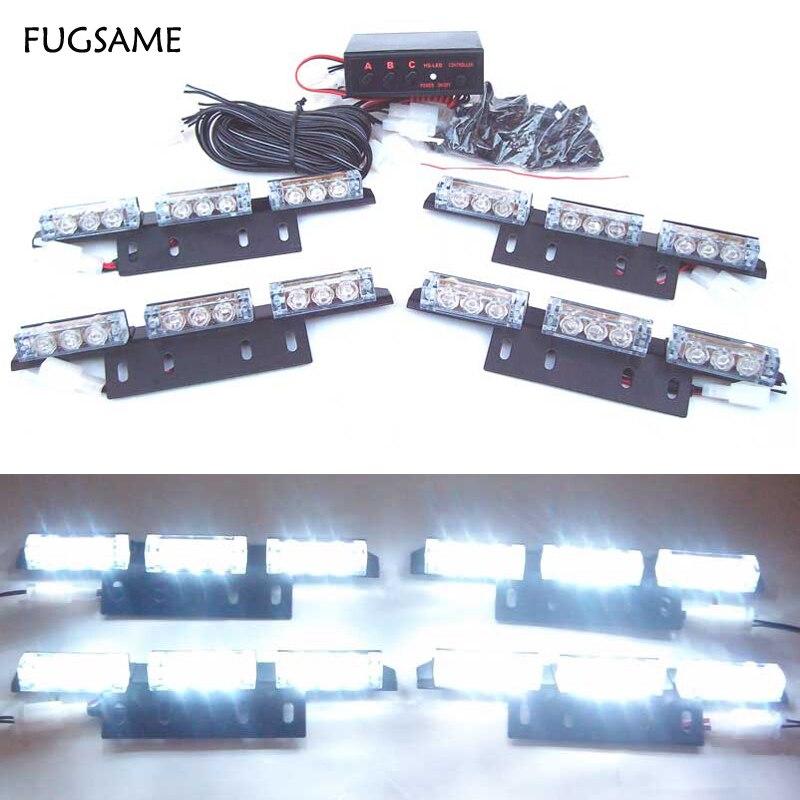 4*9 36 LED Warning Blinking Strobe Flash Light Deck Dash  LED EMERGENCY STROBE LIGHTS 3 Mode 12V Red Blue White Green Amber<br>