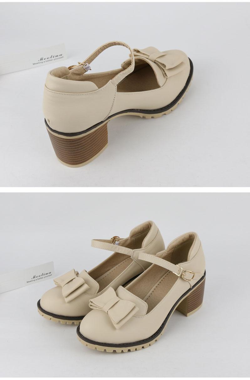 HTB1IOosRFXXXXbBXpXXq6xXFXXXq - Meotina Women Pumps Lolita Shoes Platform High Heels Pink Shoes Bow Mary Jane Ladies Sweet Party Shoes Size 33-43 Zapatos Mujer