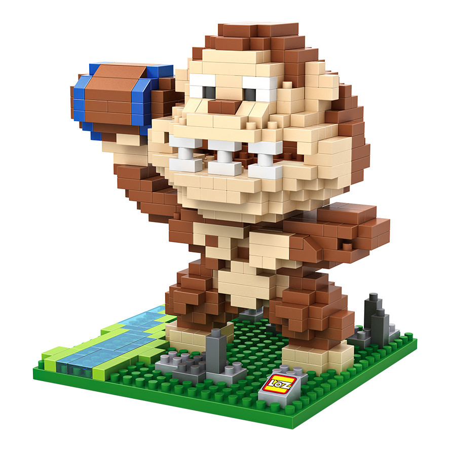 LOZ 9619 Donkey Kong ACT - Action Game Simulator Education Diamond Bricks  Building Block Minifigure Toys Compatible With Legoe<br><br>Aliexpress