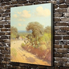 A2581 Gerald Harvey Jones along-a country road. HD Canvas Print Home decoration Living Room bedroom Wall pictures Art painting