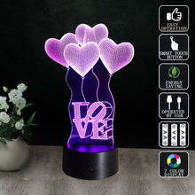 Valentines Day Mother's Day Gift 3d Lamp Led Night Light 7 Colors Table Touch Sensor Luminarias Fixtures Lamparas Veilleuse