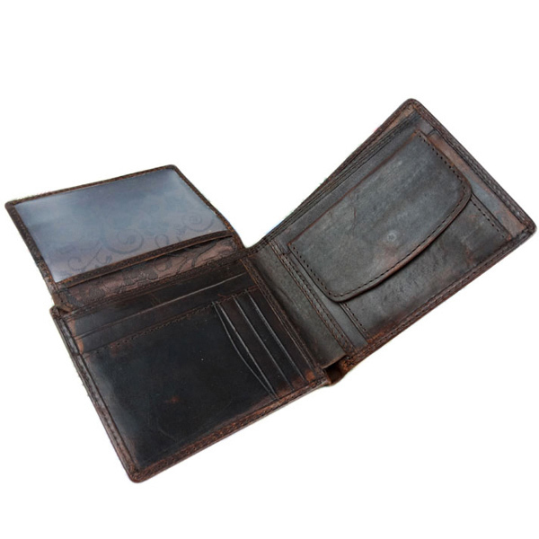 Hot 2017 New Arrival Fashion 100% Genuine Leather Purses High Quality Business Men Wallets Casual Card Holders Vintage billetera<br><br>Aliexpress