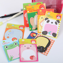 5 PCS Office Stationery Sticker Cute Forest Animal Sticker Post It Marker Memo Pad Flags Sticky Note 8 Color Available