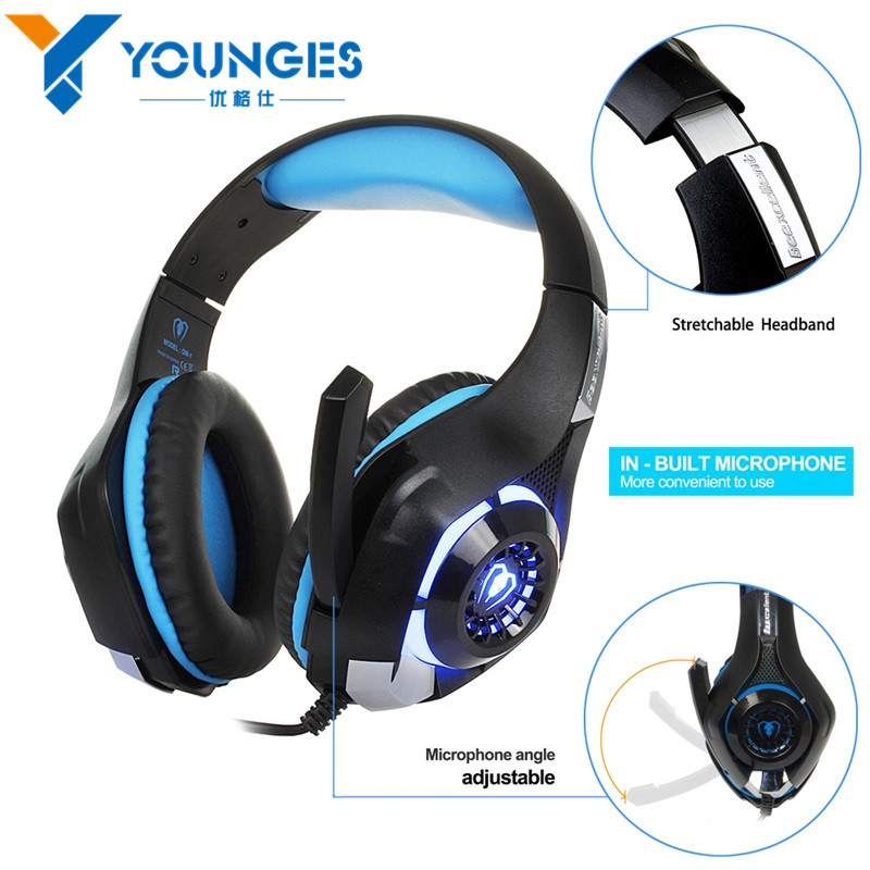 YG-GME2 3.5mm Gaming Headset Stylish Headset Headphone with Microphone LED Light for Laptop Tablet PC Mobile Phone<br><br>Aliexpress