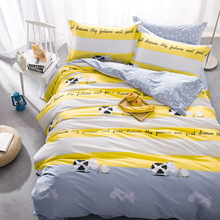 100% Cotton Bedding Set Train Aircraft Pattern Printed Children 's Bedding King Queen Size 4pcs Duvet Cover Bed Sheet Pillowcase