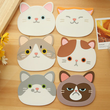 Special Fashion Stylish Ceramic Coaster Cat High Quality Design Hot Simple Modern Accessory(China)