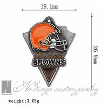 Cleveland super bowl american football world championship contenders Browns team charms chains dangle pendants ON SALE NE0962