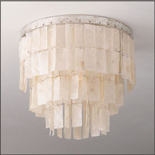American simple shell ceiling led chandeliers lamp lustres for dining room/big french empire style Restoration Hardware lighting