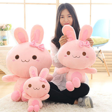 Pink Bunny Stuffed Animal Soft Toys For Girls Gifts Birthday Dolls Hare Baby Toys Stuffed Animals Rabbit Plush Toy 70C0577