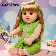 CXZYKING Large Size Silicone Reborn Baby Dolls Sleeping Babies Real Simulation Lifelike Doll Princess Doll Toy Kids Toys