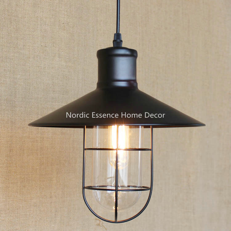 American country retro industrial warehouses glass,wrought iron bar restaurant snack bar living room chandelier workshop lamp<br>