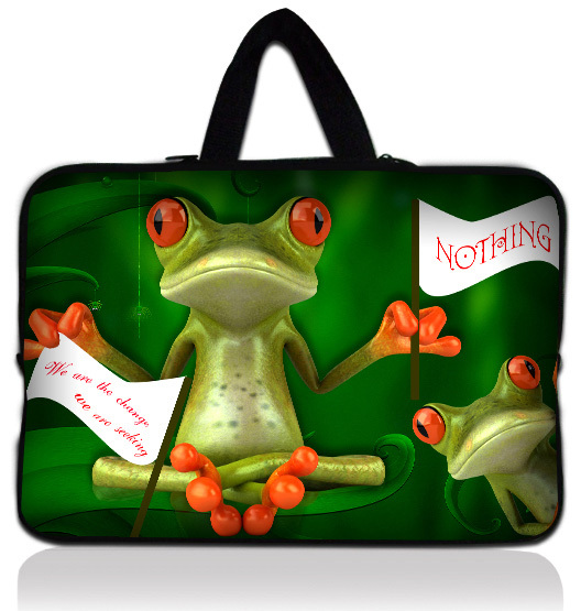 17 Funny Frog Soft Neoprene Laptop Netbook Sleeve Bag Case Pouch+ Hide Handle For 17.3 HP Pavilion DV7 E17 G7 / Dell XPS<br><br>Aliexpress