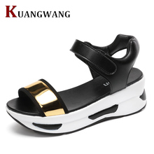 High Quality Women's Shoes Summer Wedges Sandals Fashion Lady Tennis Open Toe Slimming Woman Breathable Casual Sandals