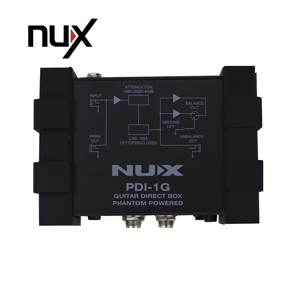 NUX Pro-Audio PDI-1G Guitar Direct Box Get Very Pure Instrument Signal To The Audio Mixer Para Out<br><br>Aliexpress