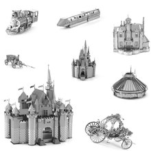 3D metal puzzle the ghost princess carriage beauty princess castle Ghost haunted house bullet train 3D puzzle for children adult