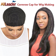 Hot Selling 5Pcs Cornrows Wig Cap For Making Wigs Lot Easier Sew Braided Cornrow Cap For Weave Quality Lace Wig Making Materials