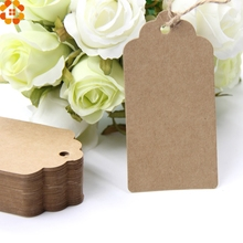 Buy 50PCS DIY Kraft Paper Tags Paper Labels Card Blank Hang Tag DIY Christmas/Wedding Party Favors Scrapbooking Kraft Gift Tags for $2.34 in AliExpress store