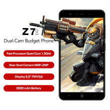 Cheapest 4G LTE Smartphone LEAGOO Z7 5.0 Inch Android 7.0 Cellphone SC9832A Quad Core 1GB RAM 8GB ROM 3000mAh 5MP Mobile Phone(China)