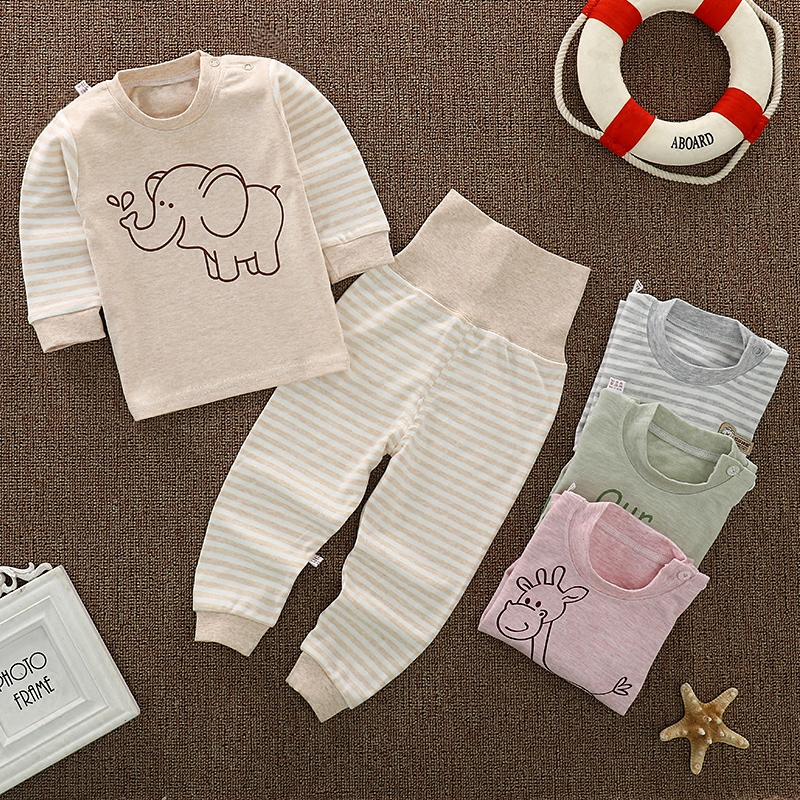 Newborns Baby pajamas set Toddler Girl Child Clothes Underwear baby boys pajamas sets winter cartoon clothes sleepwear Coat Pant