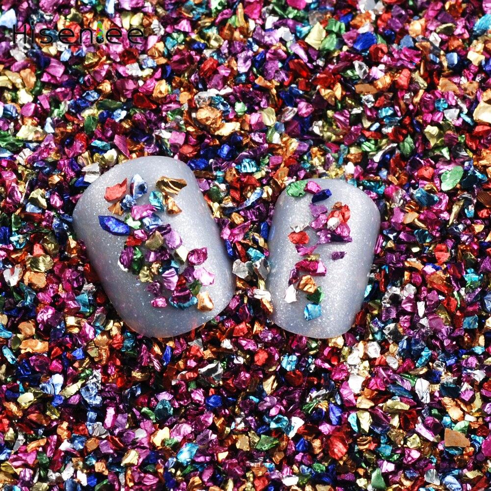 Buy New 1000pcs Pack Nail Art Polymer Clay Tiny Fimo Potong Mix 1 20g Small Irregular Bead Metal Rose Gold Broken Glass 3d Mobile Phone