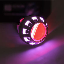 Genuine the lowest price Brand Purple AngelEye Red Devil Eys Super HID BI-XENON Motorcycle Projector LENS KIT New(China)