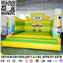 Spongebob inflatable moonwalk,inflatable jumper bounce house for sale