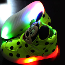 2017 kids light up hello kitty shoes boys glowing-sneakers girls illuminated for lights children glowing sneakers zapatillas led