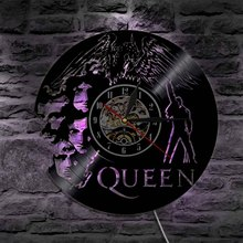 1Piece Creative Decorative Wall Light With Color Changing Black Light Queen Band Decorative Clock Art Wall Unique Gift Idea