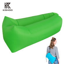 3 season sofa bean Outdoor Nylon Waterproof Fast Inflatable Sleeping Bag Soft Beach Sofa Lounger Bed Lazybones Air Bags banana